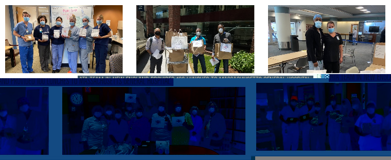NewEngland team supports MGH staff.